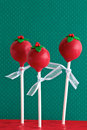 Red Christmas Cake Pops Royalty Free Stock Photo