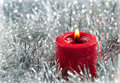Red Christmas candle Stock Image