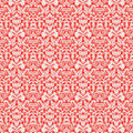 Red Christmas Damask Pattern Seamless Background Stock Photo