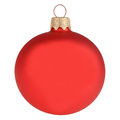 Red christmas decoration ball isolated on white Royalty Free Stock Photo