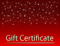 Red Christmas Gift Certificate Stock Photography