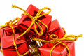 Red christmas gifts Royalty Free Stock Photo