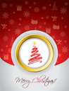 Red christmas greeting card Royalty Free Stock Images
