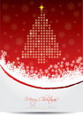 Red christmas greeting card Royalty Free Stock Photography