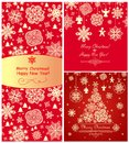 Red christmas greetings