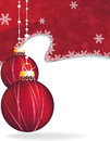 Red Christmas ornaments Stock Images