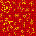 Red Christmas seamless. Royalty Free Stock Photo