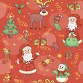 Red christmas seamless pattern background Royalty Free Stock Photo