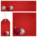 Red christmas set Royalty Free Stock Photos