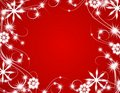 Red Christmas Sparkling Lights Background Royalty Free Stock Photo