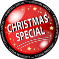Red christmas special button Royalty Free Stock Photo