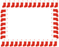 Red christmas stocking border Royalty Free Stock Image