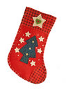 Red Christmas stocking for gifts Stock Photography