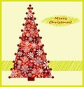 Red christmas tree Royalty Free Stock Photos