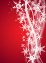 Red christmas/winter design Royalty Free Stock Photos
