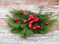 Red christmas wreath Royalty Free Stock Photography