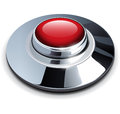 Red chrome button Royalty Free Stock Photo