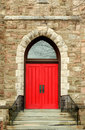 Red church door Stock Images