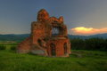 The red church is historical object near perushtitsa town in bulgaria it is an early christian basilica from th th century Stock Photography