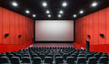 Red cinema hall Royalty Free Stock Photo