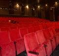 Red cinema seats Royalty Free Stock Photo
