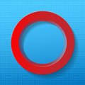 Red circle blue background vector illustration Royalty Free Stock Photos