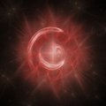 Red Circle Portal Fractal Royalty Free Stock Photo