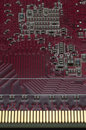 Red circuit board Stock Image