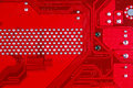 Red circuit board texture background of computer motherboard Royalty Free Stock Photo