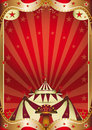 Red circus baroque frame a background with a big top Stock Image