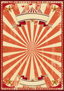 Red circus retro a vintage background for a poster Stock Photo