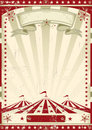 Red circus retro a vintage poster for your advertising Royalty Free Stock Image