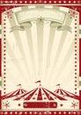 Red circus retro.