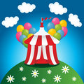Red circus tent Stock Images