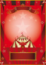 Red circus vintage poster a new for your company Stock Image