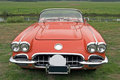 Red classic corvette Stock Photography