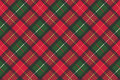 Red classic plaid pixel texture seamless pattern Royalty Free Stock Photo