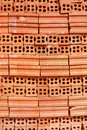 Red clay brick Stock Photos