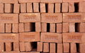 Red clay brick material for construction photo taken on december th Stock Image