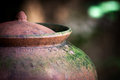 Red clay pot Royalty Free Stock Photo