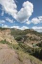 Red cliff bridge near vail colorado Royalty Free Stock Photo