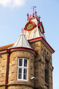 Red clock tower Royalty Free Stock Photo