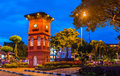 The Red Clock Tower in Malacca, Malaysia Royalty Free Stock Photo