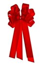 Red cloth ribbon Stock Image