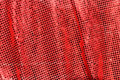 Red cloth. shining sequins. Stock Image