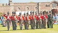 Red coat soldiers at Fort George Royalty Free Stock Photo