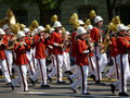 Red Coated Marching Band Stock Photo