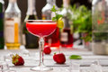 Red cocktail in a glass. Royalty Free Stock Photo