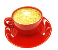 Red coffee cup Stock Photography