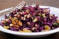 Red coleslaw salad